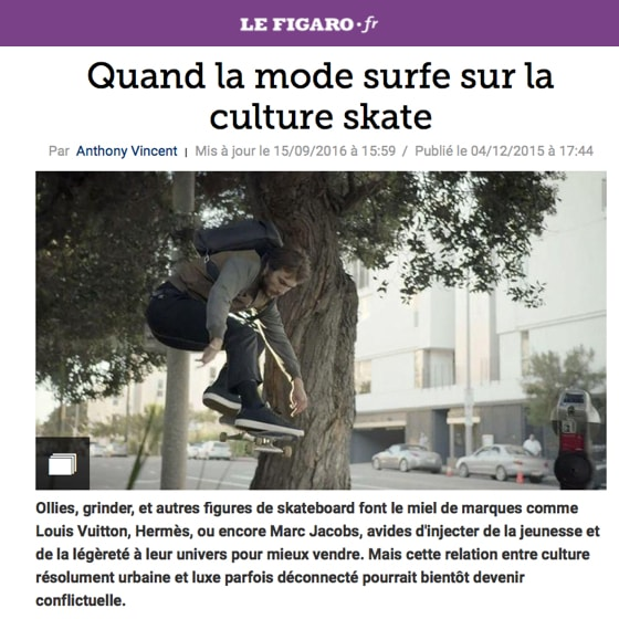 Quand la mode surfe sur la culture skate