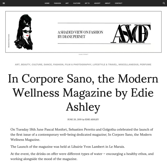 In Corpore Sano, the Modern Wellness Magazine by Edie Ashley